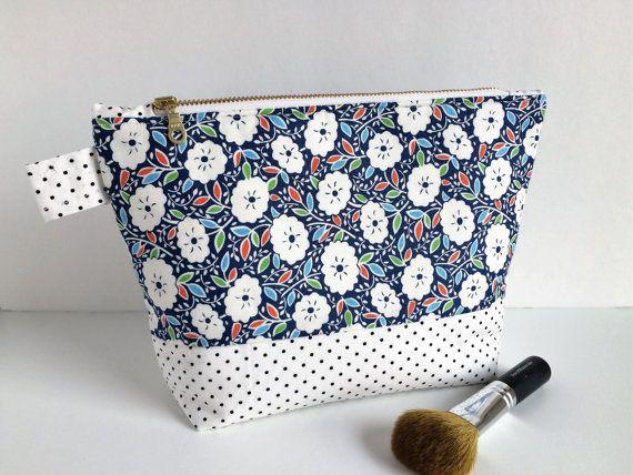 floral makeup bag floral cosmetic bag large by