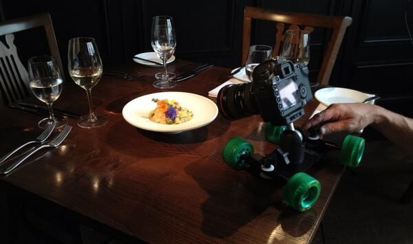 The Lobster Risotto at 1884, Hull- filmed with a skate camera