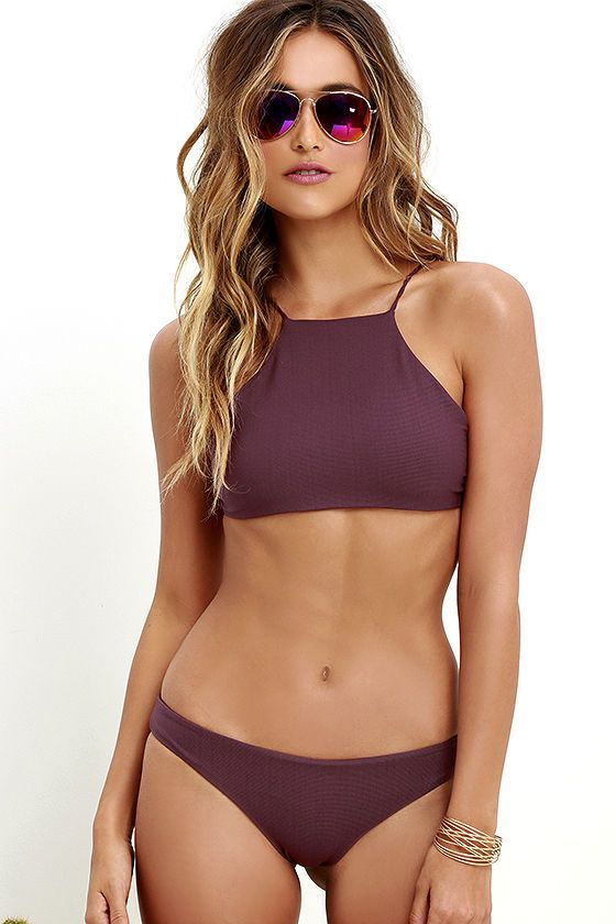 Tavik Ryan Burgundy Bikini Top at Lulus.com!