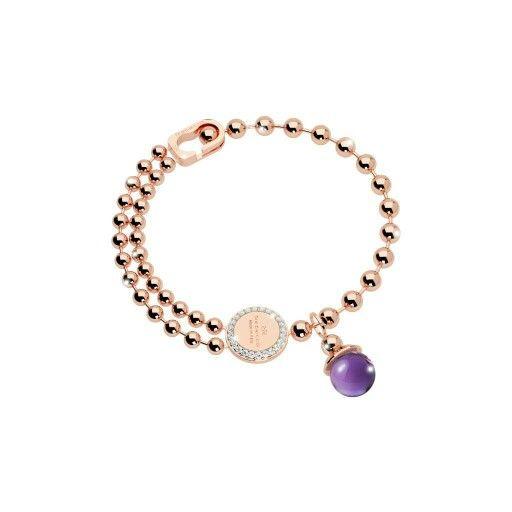 New collection Rebecca boulevard bracelet italian faschion designer bracelet purple stone Facebook: Gioielleria il Diamante  www.gold-jewels-italy.com