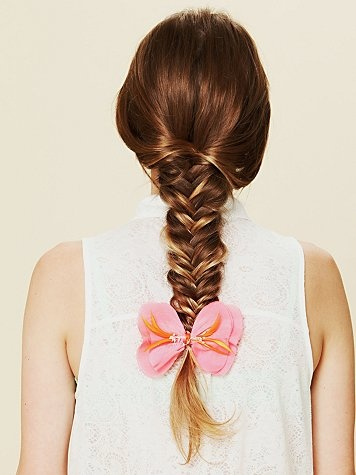Flower BowFish Tail, Flower Bows, Hair Colors, Long Hair, Free People, Fishtail Braids, Flower Girls, Braids Hair, Flower Hair