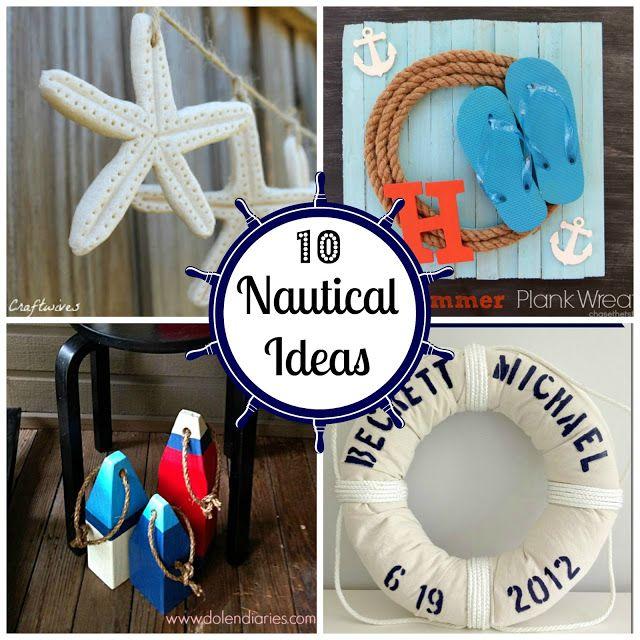 10 Nautical Decorating Ideas #nautical #DIY #decorating