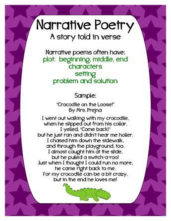 narrative poetry poster                                                                                                                                                     More