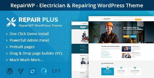 RepairWP v1.2.4 – Electronics, Mobile & Computer Repairing WordPress Themeis designed specially for Repair, Electrical, Mechanic and other related businesses. We researched the industry and tried to create the pages an average website consists of. We worked on Repairwp to make it... https://www.waothemes.com/repairwp-v1-2-4-electronics-mobile-computer-repairing-wordpress-theme/