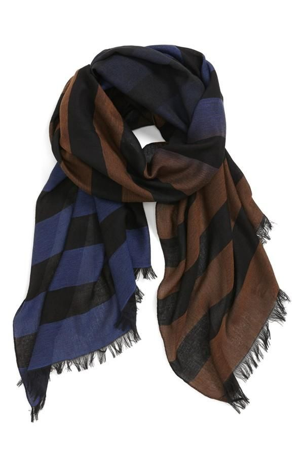 The best fall scarves are cozy, striped, & colorful.