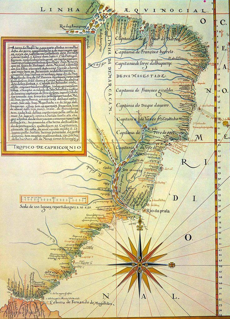 Linha de Tordesilhas, Mapa de Luís Teixeira