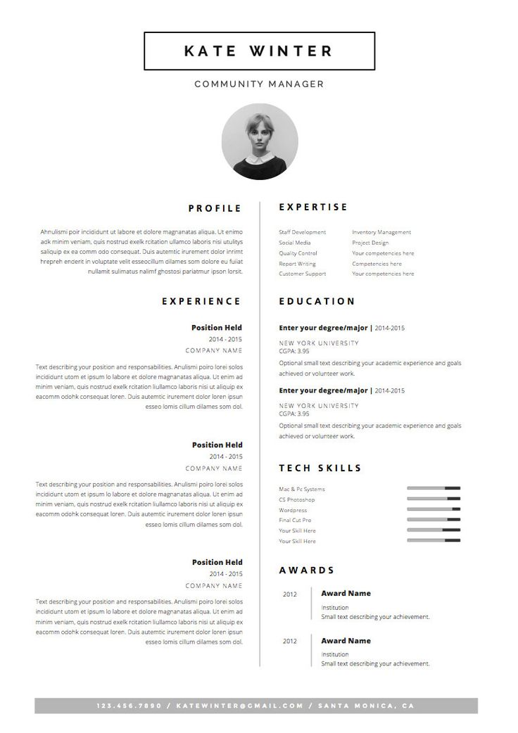 15 best resume images on Pinterest Creative cv template - fashion resume templates
