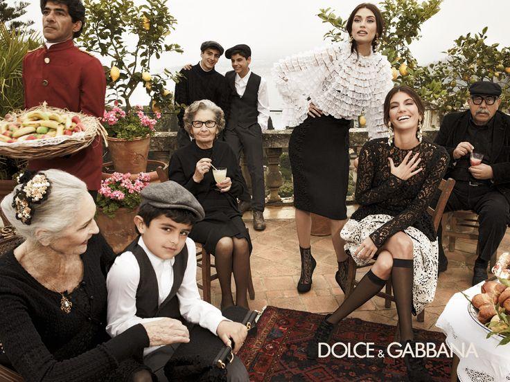 italian families   The Italian Family: Dolce and Gabbana 2012/13