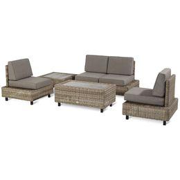 Vanutu! Een luxe en stijlvolle loungeset! De Vanutu is vervaardigd uit een aluminium frame en afgewerkt met wicker. Door de strakke vormen en unieke pootjes komt deze loungeset helemaal tot haar recht. Genieten doe je met Hartman!