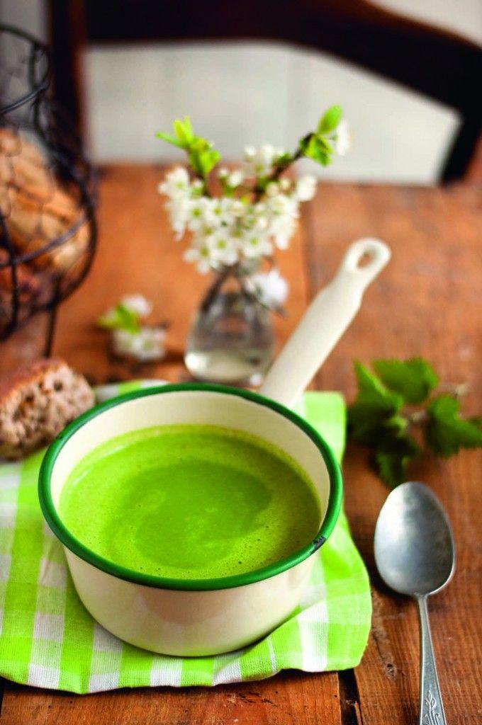 Soupe d'orties - Livre «Mes recettes détox super-gourmandes» de Marie Chioca
