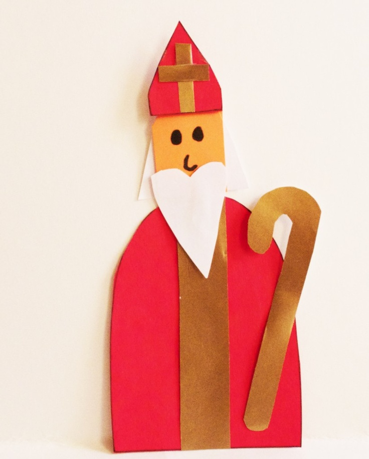 Saint Nicholas craft - Simple and easy way to make a St. Nicholas decoration for the classroom