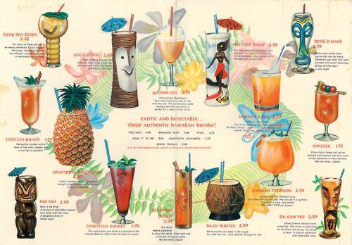 Vintage Cocktail Menu