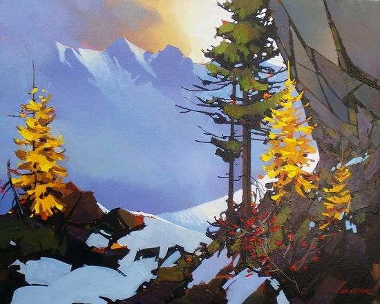 "Shadows of the Tantalus by Michael O'Toole Acrylic ~ 24"" x 30"""
