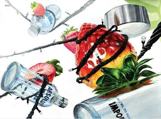 딸기, 유리병, 트리장식전구 -미대입시