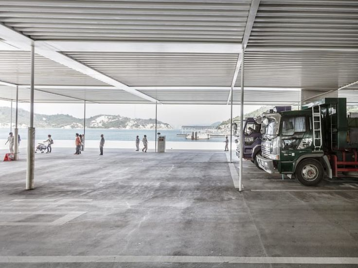 Kazuyo Sejima + Ryue Nishizawa / SANAA, Rasmus Hjortshøj · Naoshima Ferry Terminal
