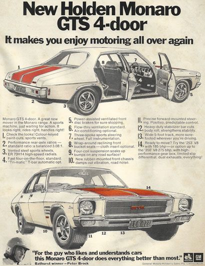 Holden Monaro GTS 4-door advert  sc 1 st  Pinterest & 15 best HQ Monaro GTS 4-door images on Pinterest | Manual Textbook ...