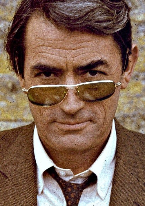 Gregory Peck photographed in London while filming Arabesque, 1966