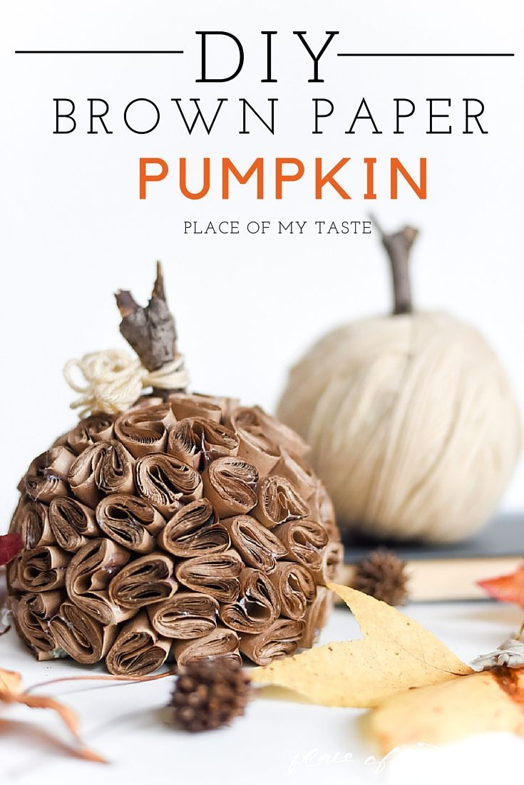 DIY BROWN PAPER PUMPKIN