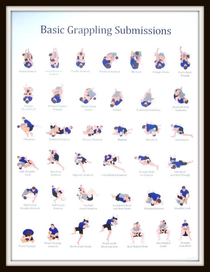 Jiu Jitsu Submissions Poster <b>submission posters</b> — <b>posters</b>