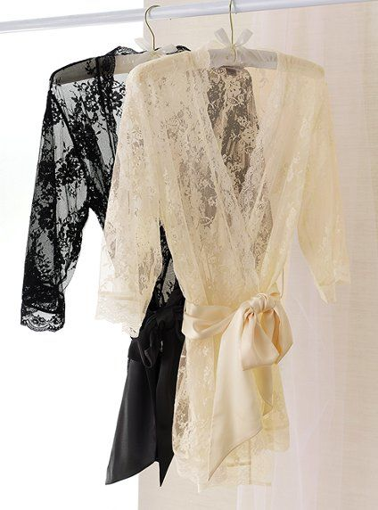 Bought this lace kimono for a bridal shower and the bride loved it!