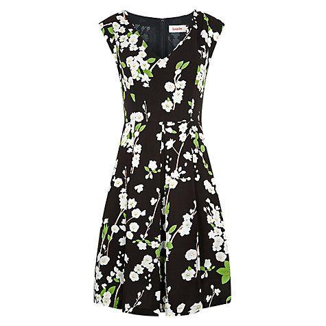 Buy Louche Raquel Blossom Dress, Black Online at johnlewis.com