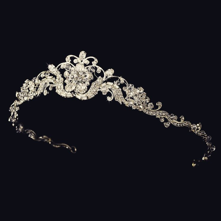 """The Marilyn"" Silver & Clear Crystal Tiara"