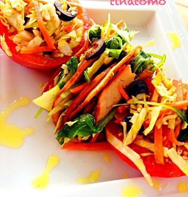 レタスが無くても、キャベツで美味しくサラダを食べたくて作りました〜(^∇^) - 25件のもぐもぐ - 千切りキャベツサラダ! by Tina Tomoko