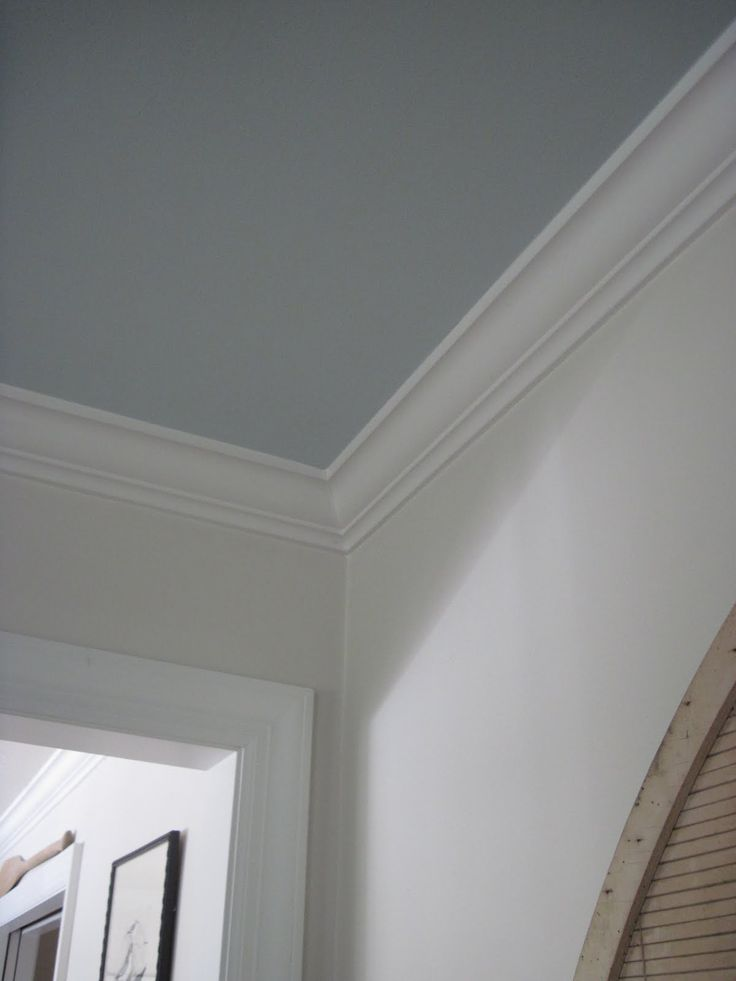 gray-blue painted ceiling