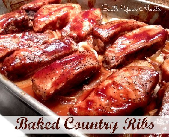 South Your Mouth: Baked Country Ribs