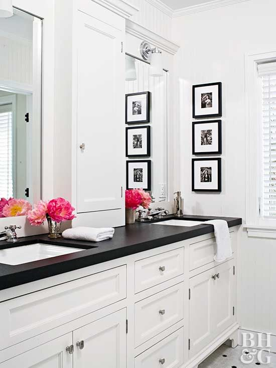 Ready for a bathroom update? Follow our tips and tricks for painting laminate countertops.