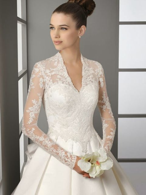 elegant, modest wedding dress.    A close up of the Kate copy . . . so lovely!