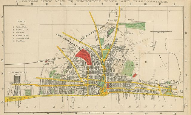 An 1872 map of Brighton, part of a cache of a million images just released by the British Library