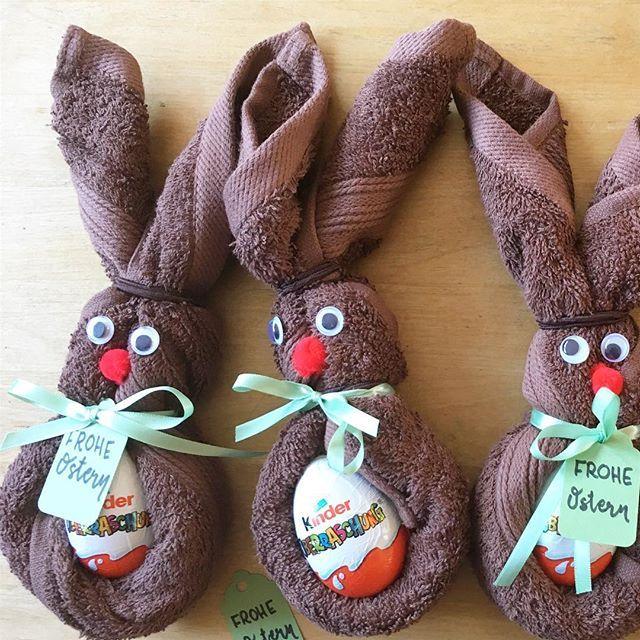 Sind die Häschen nicht süß!Falls du noch eine kleine Geschenkidee für Ostern…
