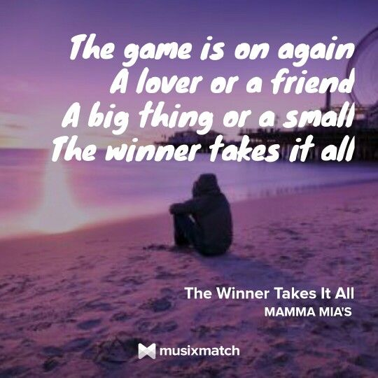 The Winner Takes It All Songtext