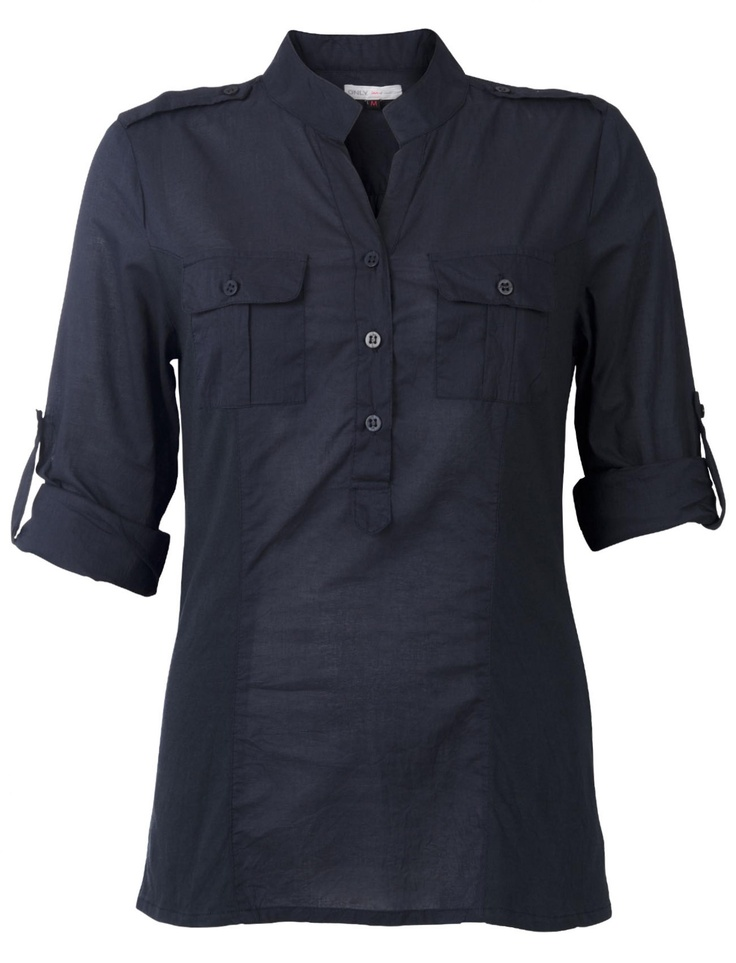*everything* i want in a shirt! the colour, the collar, the sleeves! not too keen on the pockets but i'd allow them.