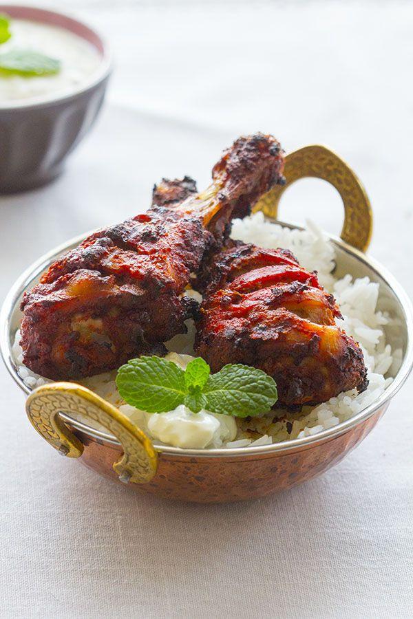 Pollo Tandoori con salsa raita. Receta india con Thermomix
