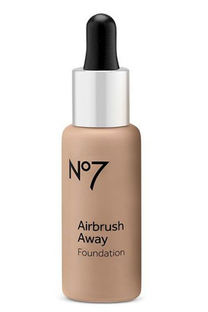 True to its name, this serum-like foundation gives the skin an airbrushed effect. (Translation: It's smoothing, perfecting, and all-around glow-inducing.)Boots No7 Airbrush Away Foundation, $17.99, available at Target. #refinery29 http://www.refinery29.com/tarte-water-foundation-best-sellers#slide-2
