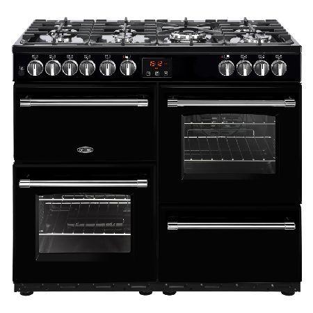 Belling FARMHOUSE 100DFT BLACK 1000mm Dual Fuel Range Cooker 7 Burners Inc. WOK Black http://www.MightGet.com/january-2017-13/belling-farmhouse-100dft-black.asp