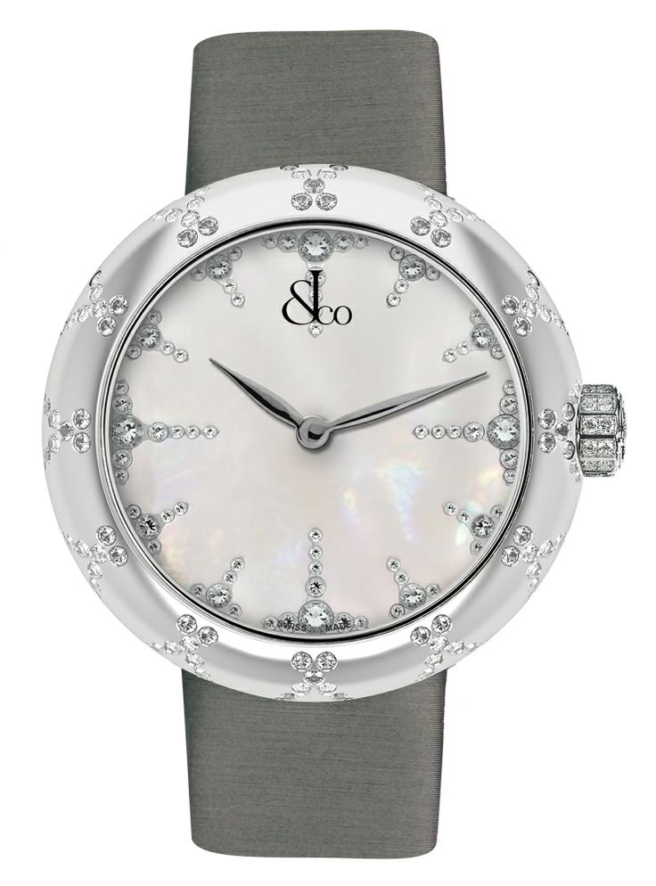 Jacob Co.'s Brilliant Collection with a Stainless Steel Case and Round Diamonds #JacobArabo. #JacobandCo #Brilliant