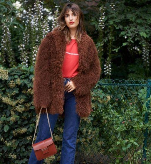 French touch: Jeanne Damas wearing a TRUSSARDI fur coat from the Fall Winter collection as seen in Vogue Russia (@voguerussia). Photo: Spela Kasal - Styling: Marine Braunschvig. Regram @jeremie girard #TrussardiEditorials #Trussardi #Vogue