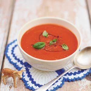 Recept - Soep van tomaten en rode paprika - Allerhande (may have to get a translator to get this recipe :) )