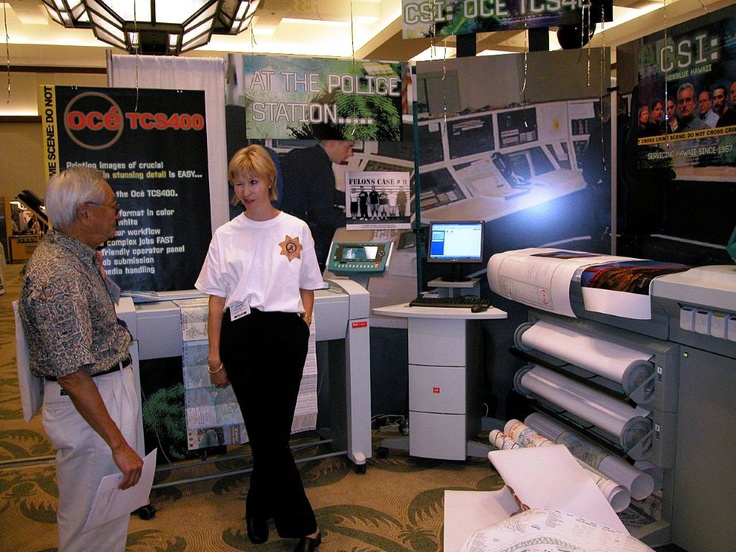 OCE booth at the 2004 PBTE