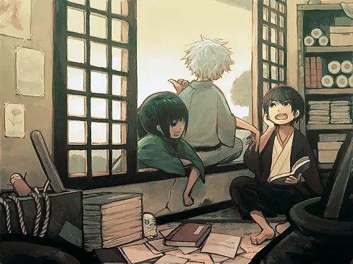 Katsura Kotarou Zura and Gintoki Sakata and Takasugi Shinsuke- Gintama