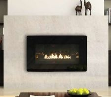 ventless fireplace inserts propane | ... Gas Fireplaces Fireglass See-Through Loft Ventless Fireplace LP or NA