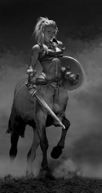 Female Centaur Warrior Character Art Fantasy Characters