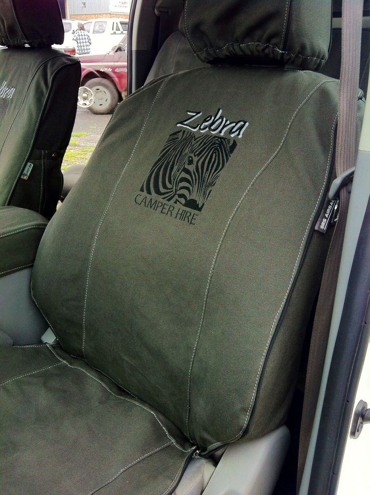 Zebra Canvas Seatcovers Fitted To The Hilux Seat Covers