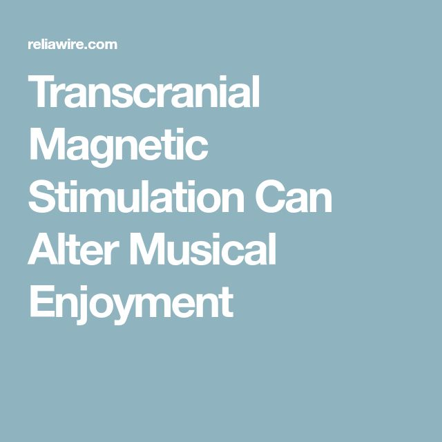 Transcranial Magnetic Stimulation Can Alter Musical Enjoyment