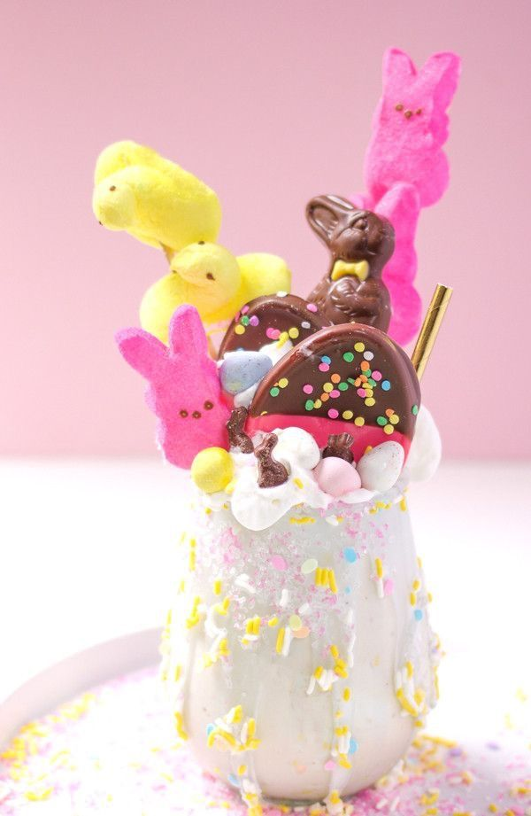 Pin By Justine Rozplochowski On Food With Images  Milkshake, Easter Bunny Treats -1279