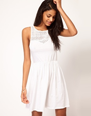Enlarge ASOS Skater Dress with Crochet Sweetheart Neck - More perfect @Shannon Michelle $28.10