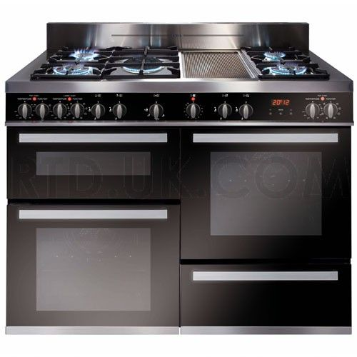 nice ovens. cda rv1200ss 120cm triple cavity range cooker electric ovens gas hob and ceramic griddle nice pinterest